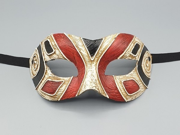 Art deco mask in black and red