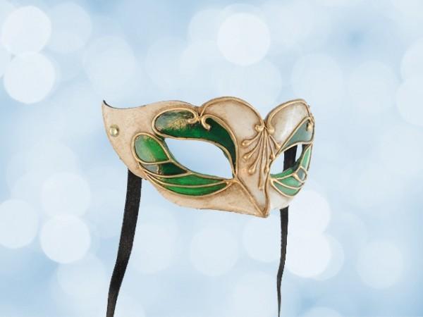 Bal masker voor een kind in groen