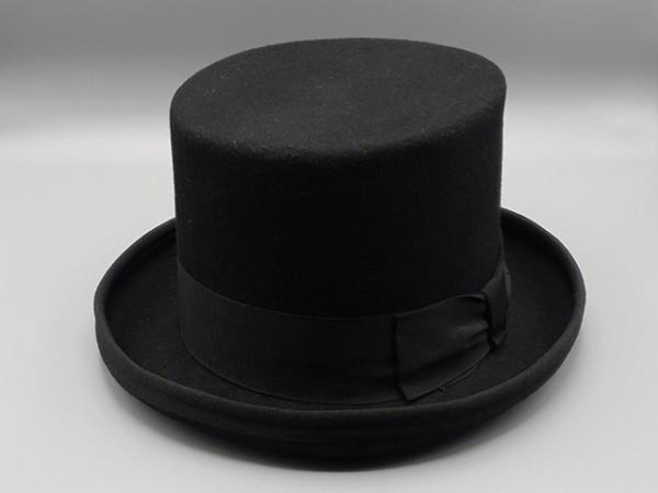 Steampunk hoge hoed, zwart, medium - 58 cm