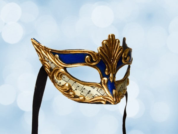 Blauw oogmasker