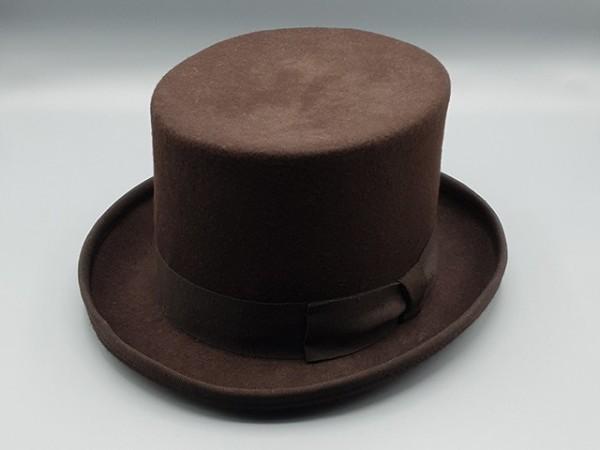 Steampunk hoge hoed, bruin, small - 56 cm