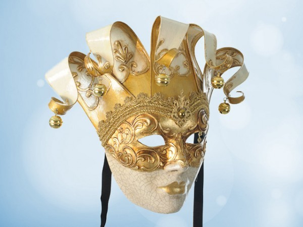 Decoratief Venetiaans masker in wit