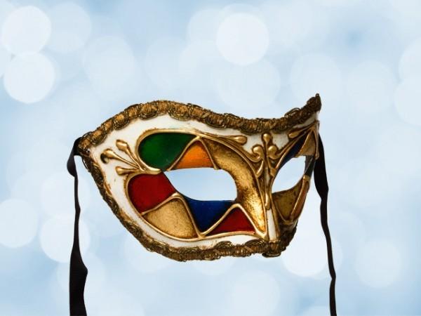 Gekleurd feest masker