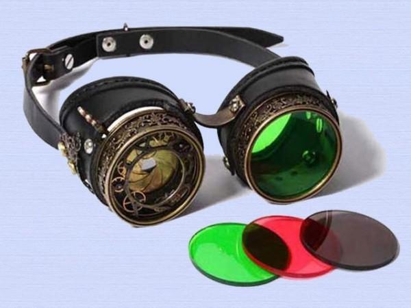 "Steampunk goggles ""Diafragma"""