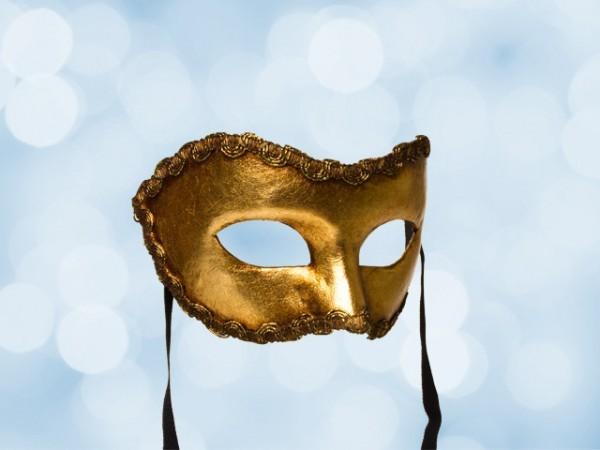 Goud party masker