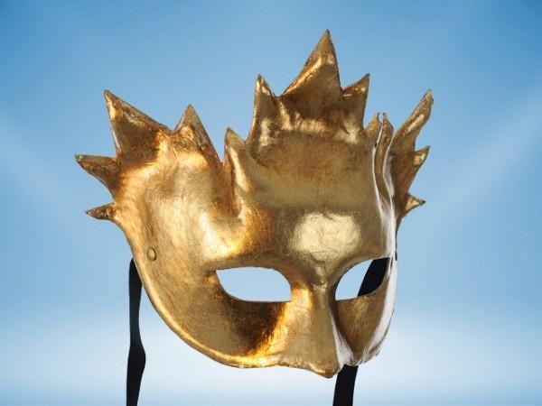Gouden Carnavalsmasker Bacchus