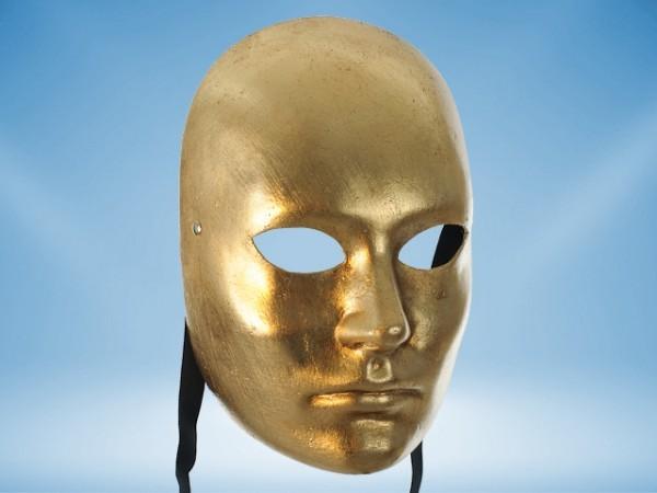 Gouden gelaatsmasker