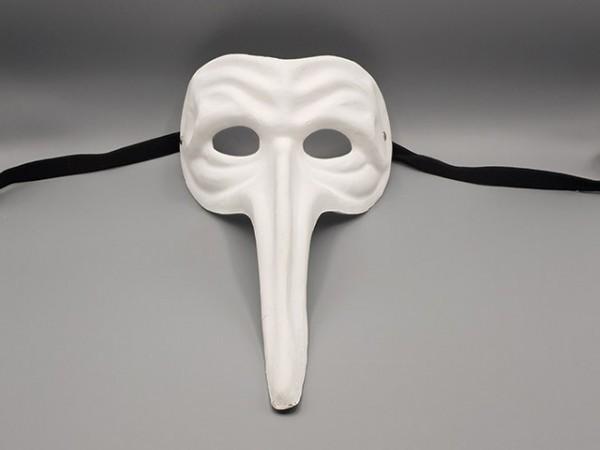 Blank papier-maché masker Il Capitano