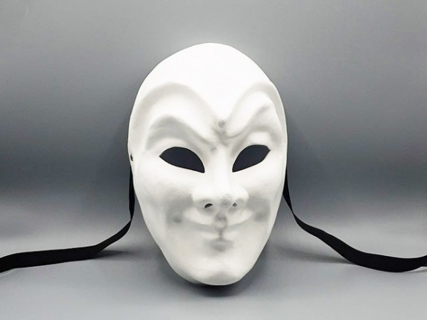 Blank masker van de Joker