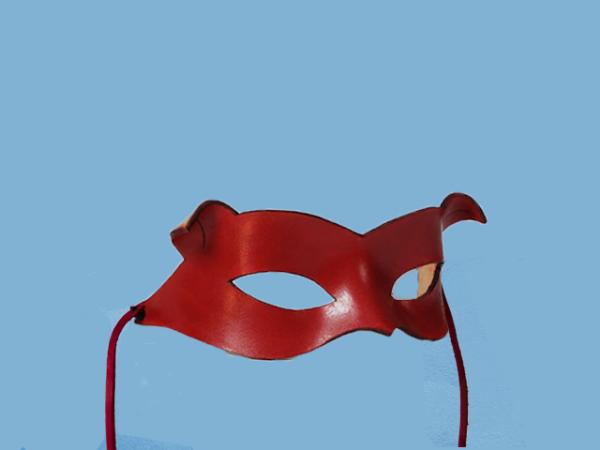 Rood leder masker van Catwoman