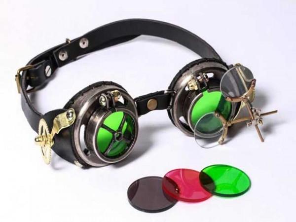 """Steampunk goggles """"Magisch glas"""""""