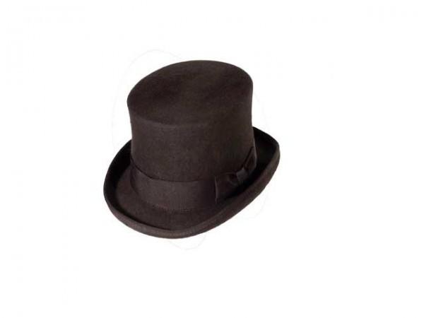 Steampunk hoge hoed, bruin, large - 59 cm