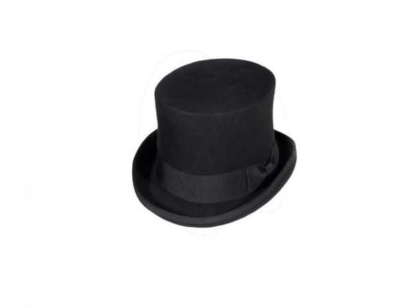 Steampunk hoge hoed, black, large - 59 cm