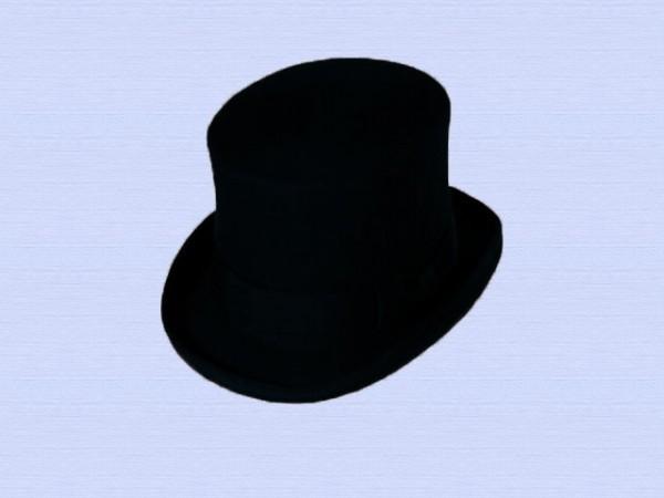 Steampunk hoge hoed, zwart, small - 56 cm
