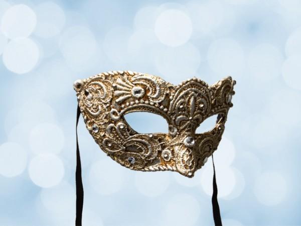 Venetiaans bal masker van verzilverd kantwerk voor een man