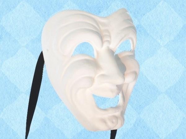 Wit Komediemasker van de lach