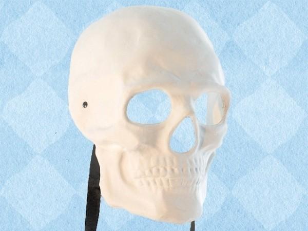 Wit masker van een menselijke schedel