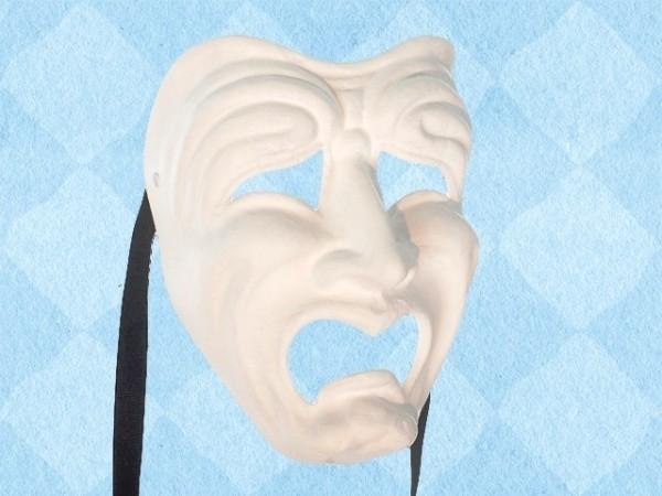 Wit Tragediemasker van de traan