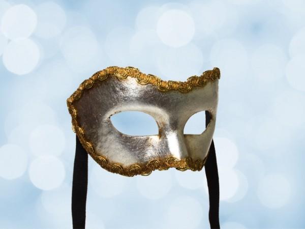 Zilver party masker