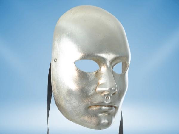 Zilveren gelaatsmasker