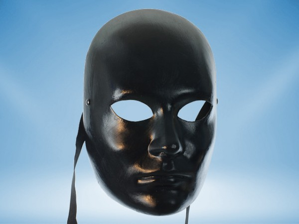 Zwart gelaatsmasker