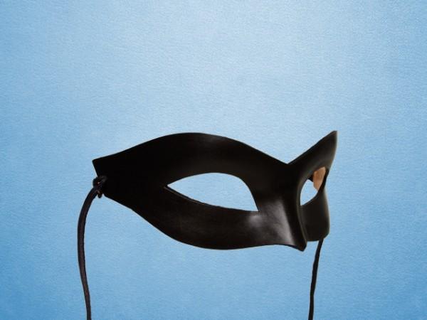 Zwart masker van leer