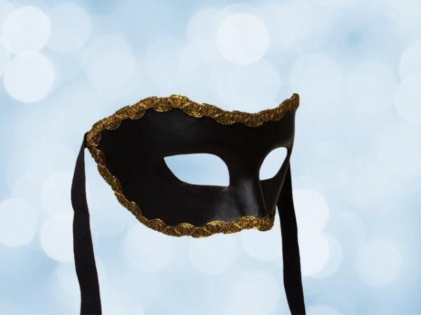 Zwart party masker